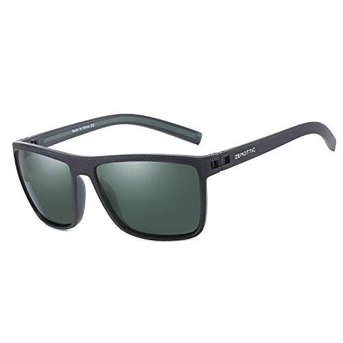 ZENOTTIC Polarisierte Sonnenbrille für Herren Leichte TR90 Rahmen UV400 Schutz Sonnenbrillen
