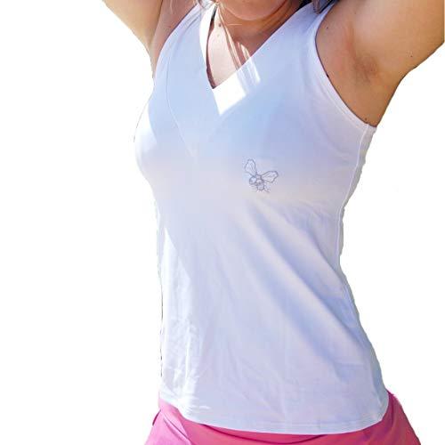 La Mouche Padel Camiseta de Mujer básica Blanca (M)