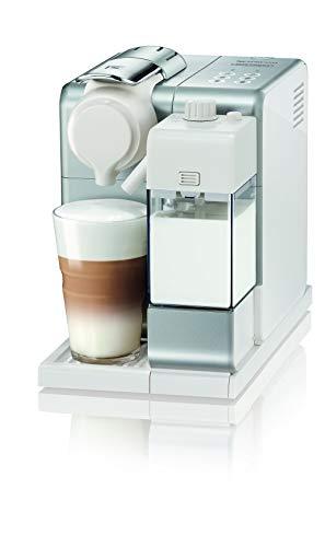 De'Longhi Nespresso Lattissima Touch EN 560.S Kaffekapselmaschine mit Milchsystem, Flow Stop Funktion: Kaffee- und Milchmenge individuell einstellbar, 19 bar Pumpendruck, Silber Weiß