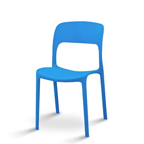 CJH eenvoudige eettafel van kunststof, Nordic en stoelen thuis, voor training, stoel, restaurant, blauw