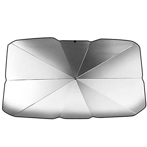 LITOSM Parasol Coche Coche Sombrilla Interior Ventana Delantera Tapa de Sol de Sol Protector UV Protector Sun Soplella SUV Sedan Accesorios de Parabrisas (Color : 65x110x125cm)