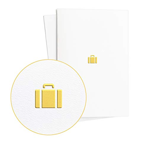 Birthday Card, Voucher, Travel Voucher for Long Distance Travel or Cruise, Card with Travel Case in Gold Embossing, E30
