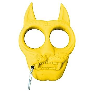 TAKE FANS Porte-clés portable en plastique en forme de tigre - Accessoire de survie pour l'extérieur (jaune)