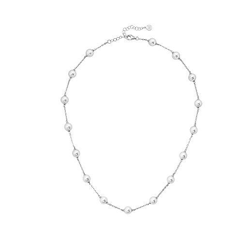 Majorica Damen Perlenketten Versilbert - 15663.01.2.000.010.1