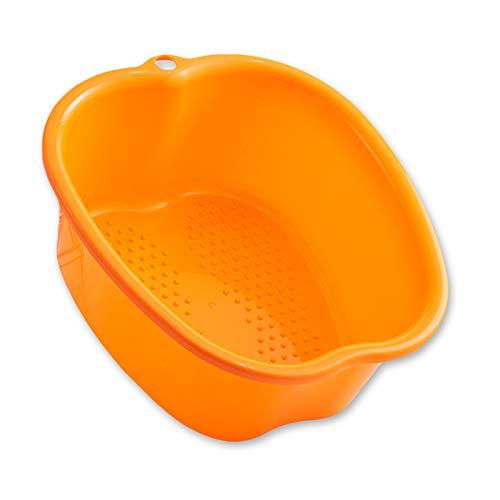 Cuenco de SPA Para Baño de Pies Grandes, Bañera Para el Cuidado de Los Pies, Bañera de Plástico Para Spa, Hecha de pPlástico Duradero, Muy Adecuada Para Aliviar la Presión Del Pie. (orange)