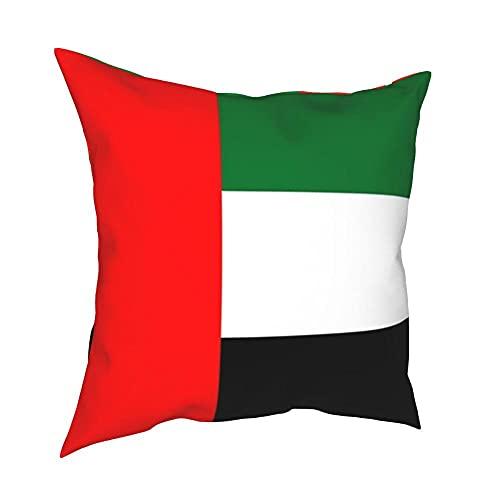 SFDGBTH Flagge von Vereinigte Arabische Emirate Dekorative Kissenbezug, 18 x 18 Zoll, Bettwäschekissen Abdeckung Quadratischer Kissenbezug, Geeignet für Häuserdekoration von Auto-Sofa