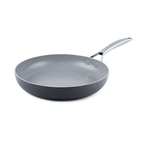 GreenPan CC000028-001  Paris 10 Inch Ceramic Non-Stick Fry Pan - Gray