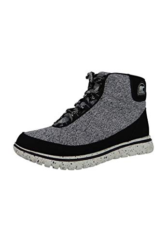 Sorel Damen Fashion Sneaker NL2327-010 TIVOLI GO HIGH Black Schwarz Grau, Groesse:EU 37 / 4 UK / 6 US / 23cm