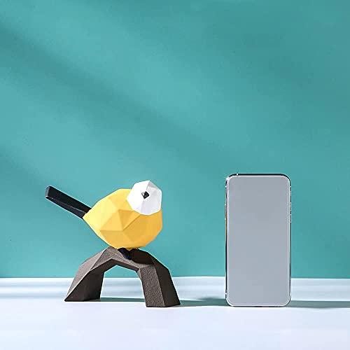 Geométrico simple origami gorrión resina adornos modelo creativo casa decoración suave pájaro resina artesanía (A)
