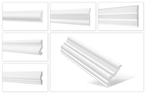 HEXIMO Wandleisten Musterstücke aus Styropor XPS - Hochwertige Stuckleisten leicht & robust im modernen Design - (FG1-20x20mm) Friesleisten Zierleisten Styroporleisten Wandzierleisten Stuckleisten