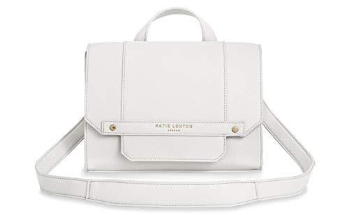 Katie Loxton Mila Multiway Womens Vegan Leather Convertible Strap Messenger Bag Backpack White