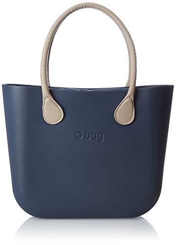 O bag B001_017, Borsa a Mano Donna, Blu (Blu Navy), 14x31x39 cm (W x H x L)