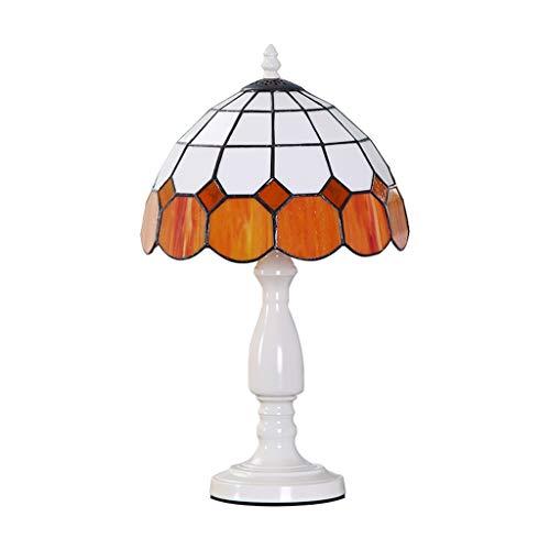 CJW Lampe de table de chevet européenne méditerranéenne orange - Cadeau de mariage créatif chaleureux de 25 cm (10 pouces)