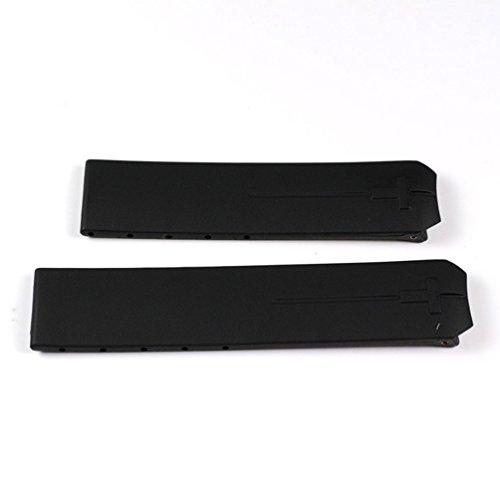 Cinturino in gomma per Tissot T-Touch T33159851 T610014614, colore: nero