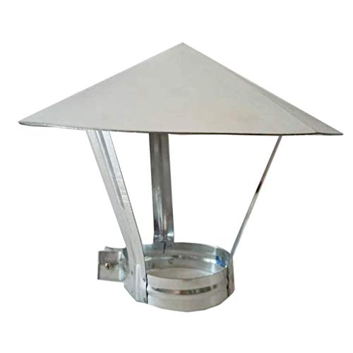 JXJ Tapa de Chimenea, Tapa Protectora para Lluvia de tubería Tapa de Techo de Acero Inoxidable para conductos de ventilación Tapa para Sombrero de Lluvia Campana de Hierro Blanco, 145 mm, 200 mm