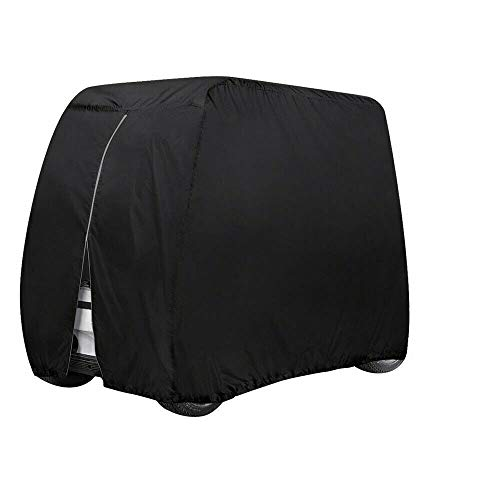 Tonhui Waterproof Golf Cart Cover Universal Fits for Most Brand 4 Passenger All Weather