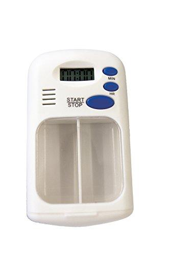 Pflegehome24® Tablettenbox mit Alarmfunktion, weiß