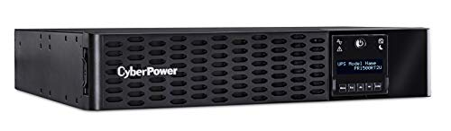 CyberPower PR1500RT2U Smart App Sinewave UPS System, 1500VA/1500W, 8 Outlets, 2U Rack/Tower, AVR