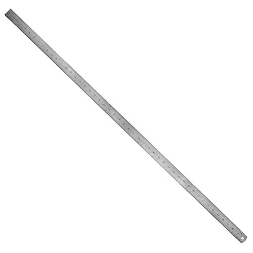 Pacific Arc Stainless Steel Ruler Inch and Metric, with 32nd and 64th Graduations, 48 Inches