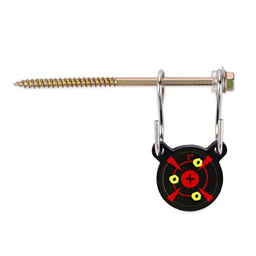 wingswinmax Hanging Target 1/5quot Thick 1quot Air Gun Target with Slpatter Target Stickers ScrewedType Airsoft Target BB Gun Target Slingshot Target Practice1quot