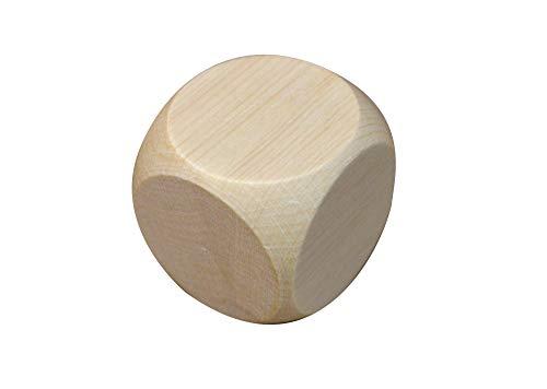10 dados de madera con simples dados, dados blancos, planos, 50 mm