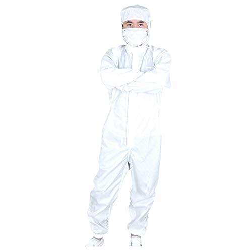 Moginp Schutzkleidung Isolationskleidung Einweg-Antibeschlag-Schutzkleid Mit Kapuze Für Den Innen- Und Außenbereich Blau,Weiss S-4XL (XXXXL(185-190CM), Weiss)