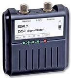 Philex 27867R - Medidor digital de señal de TV (con indicadores LED, 5-12 V), negro