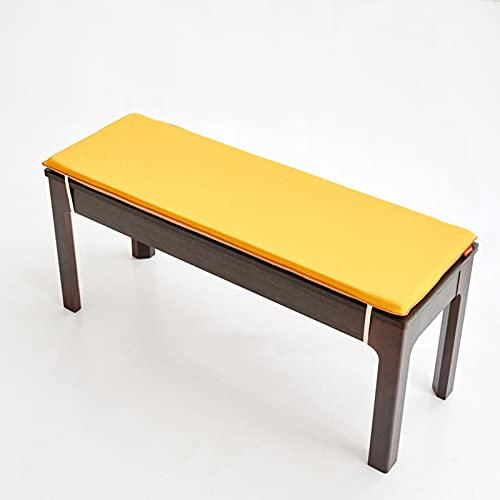 Cuscino per panca da pranzo a 2/3 posti, spessore antiscivolo, 100 cm/120 cm, con spugna ad alta densità per divano e cucina (giallo, 130 x 40 x 5 cm)