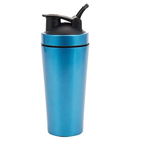 cherrypop - Botella de acero inoxidable con vibración para gimnasio, para hacer deporte, batidora, batidora, agua, proteína de fitness, sin BPA, color azul
