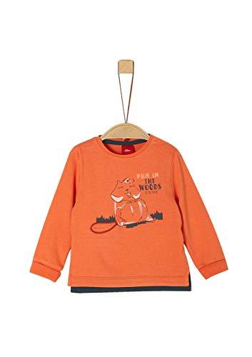 s.Oliver Baby-Jungen 65.909.31.8920 T-Shirt, Orange (Orange 2370), (Herstellergröße: 80)