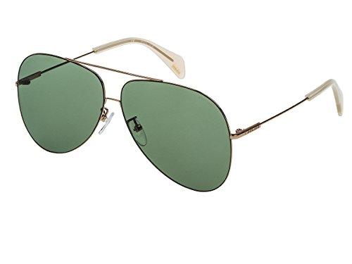 Sonnenbrille Police GOLDENEYE 3 SPL406 8FFV Unisex Silber Pilotenbrille