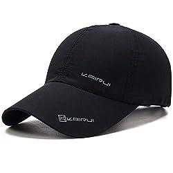 Oulm Stylish Baseball Adjustable Black Cap for Men & Boys - (CP-1)