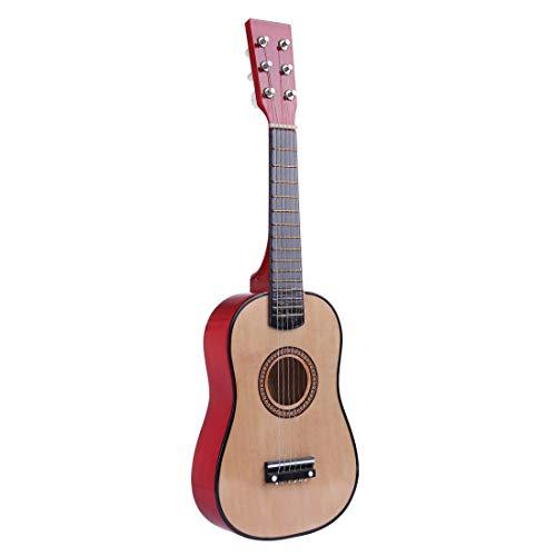 LOSGO 6 Saiten Kindergitarre aus Holz Schöne Spielgitarre Süsse Erste Gitarre Klassische Gitarre Einstieg ab 3 Jahre
