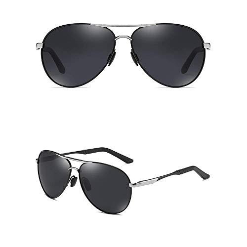 WOXING Hombre Moda Gafas De Sol,Elegantes Vintage Gafas,Aire Libre Deportes Viajes Deportivas Conducir Gafas,Metal Polarizadas Antideslumbrantes Gafas-B 14.9x5.4cm(6x2inch)