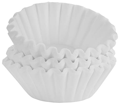Tupkee Coffee Filters 8-12 Cups - Basket Style, 700 Count, White Paper, Chlorine Free Coffee Filter, Made in the USA