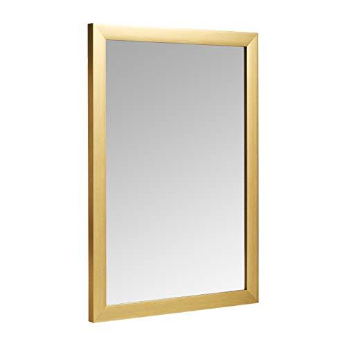 Amazon Basics Espejo para pared rectangular, 50,8 x 71,1 cm - marco estándar, latón
