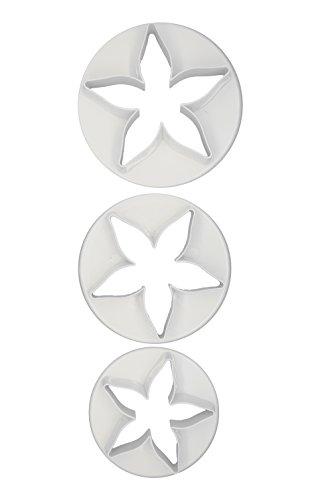 DeColorDulce Coupe Set emporte-pièces, Blanc, 28 x 10 x 5 cm, Lot de 3