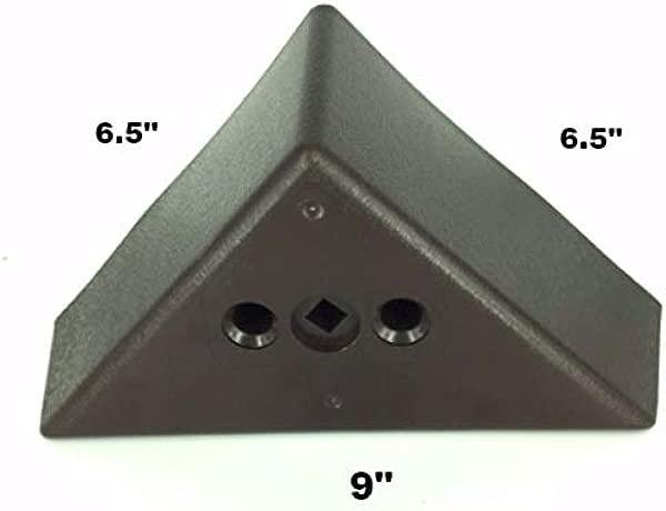 ProFurnitureParts 3 Tall Triangle Corner Sofa Legs Brown Color Set Of 4 HDPE Plastic