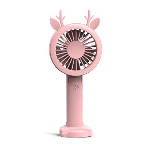 Y-QUARTER Handheld Mini USB Air Fan, Rechargeable Fans, LED Light Portable Air Cooling Fan,Quiet Portable Fan for Desktop Home Office Table