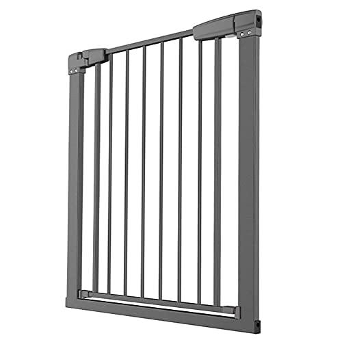 KTDT Puertas de Seguridad para Interiores Puerta para Mascotas para Perros Gatos Barrera Extra Ancha para bebés para Puertas Escalera Pasillo 76-148 cm de Ancho Metal Blanco (tamaño: 86-93 cm)