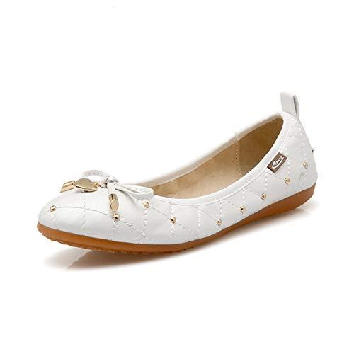 Moojm Dames Meisjes Flats Ballerina's Opvouwbare schoenen Dames Oprolschoenen Instappers Zacht Comfort Rijden Jurk Schoenen Maat