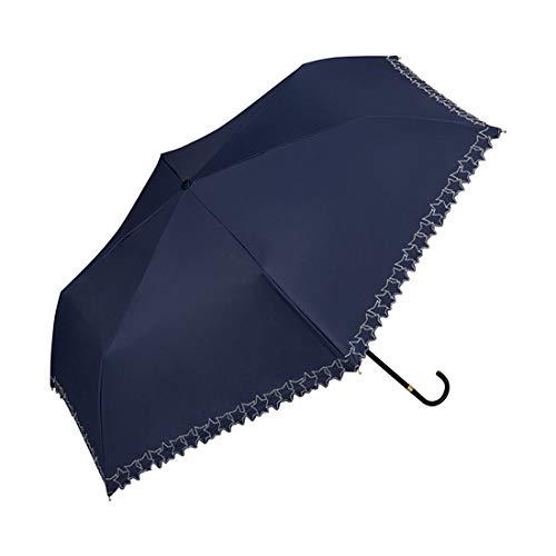 w.p.c 折りたたみ 日傘 UVカット 晴雨兼用 50cm 遮光 遮熱 (ネイビー[FRAME-STAR]801-5470)