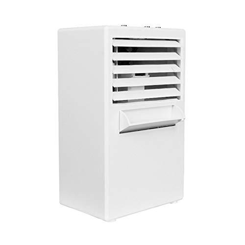 greenwoodhomer Mini-Klimaanlagenventilator, geräuscharm, 3 Windgeschwindigkeiten, Kühler, digitales Kühlsystem, Timing-Luftbefeuchter für Home Office