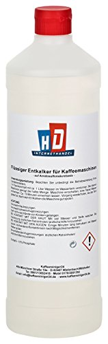 Kaffeereiniger24 – qualitativer Universal-Entkalker   universell einsetzbarer Flüssig-Entkalker   Einfache Anwendung für 4 Entkalkungen   umweltfreundlich   made in germany   1000ml