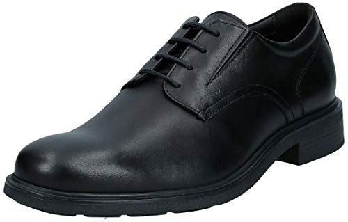 GEOX U DUBLIN A BLACK Men's Derbys, Oxfords and Monk Shoes Derby size 47(EU)