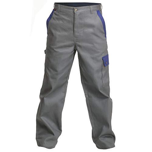 Logista Handel Charlie Barato® Herren Arbeitshose Profi Line - Bundhose für Handwerker grau/Kornblau (52)