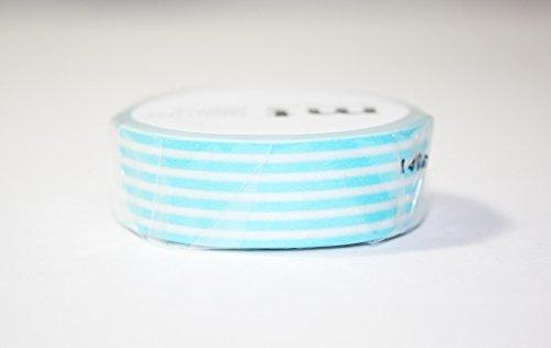 MT Washi tape, 1P Deco, 15mm x 10m, bordo blu pastello (MT01D256)