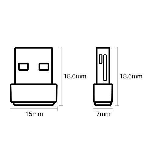 TP-Link Archer T2U Nano AC600 WLAN USB Adapter (433MBit/s 5GHz, 200MBit/s 2,4GHz 802.11ac/n, WPA und WPA2-Verschlüsselungs-Standard, Unterstützt Windows 10/8.1/8/7/XP, Mac OS) schwarz/gold
