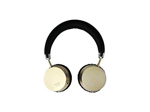 Xoro KHB 300 Kompakter Bluetooth-Kopfhörer (Freisprechfunktion, Mikrofon, NFC, integrierter Akku) gold