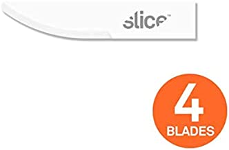 Slice 10520 Craft Blades, Fits Most Craft Handle Knives, Ceramic Blade, 4-Pack, White